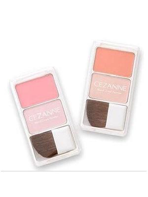 纯色粉质+珠光粉双色腮红盘(内附专属腮红刷具)