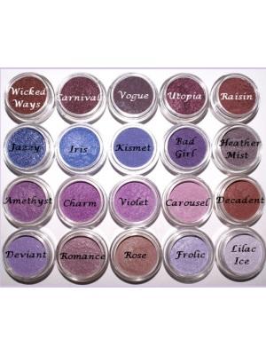 (PL)天然矿物质眼影粉 (紫色系色板)