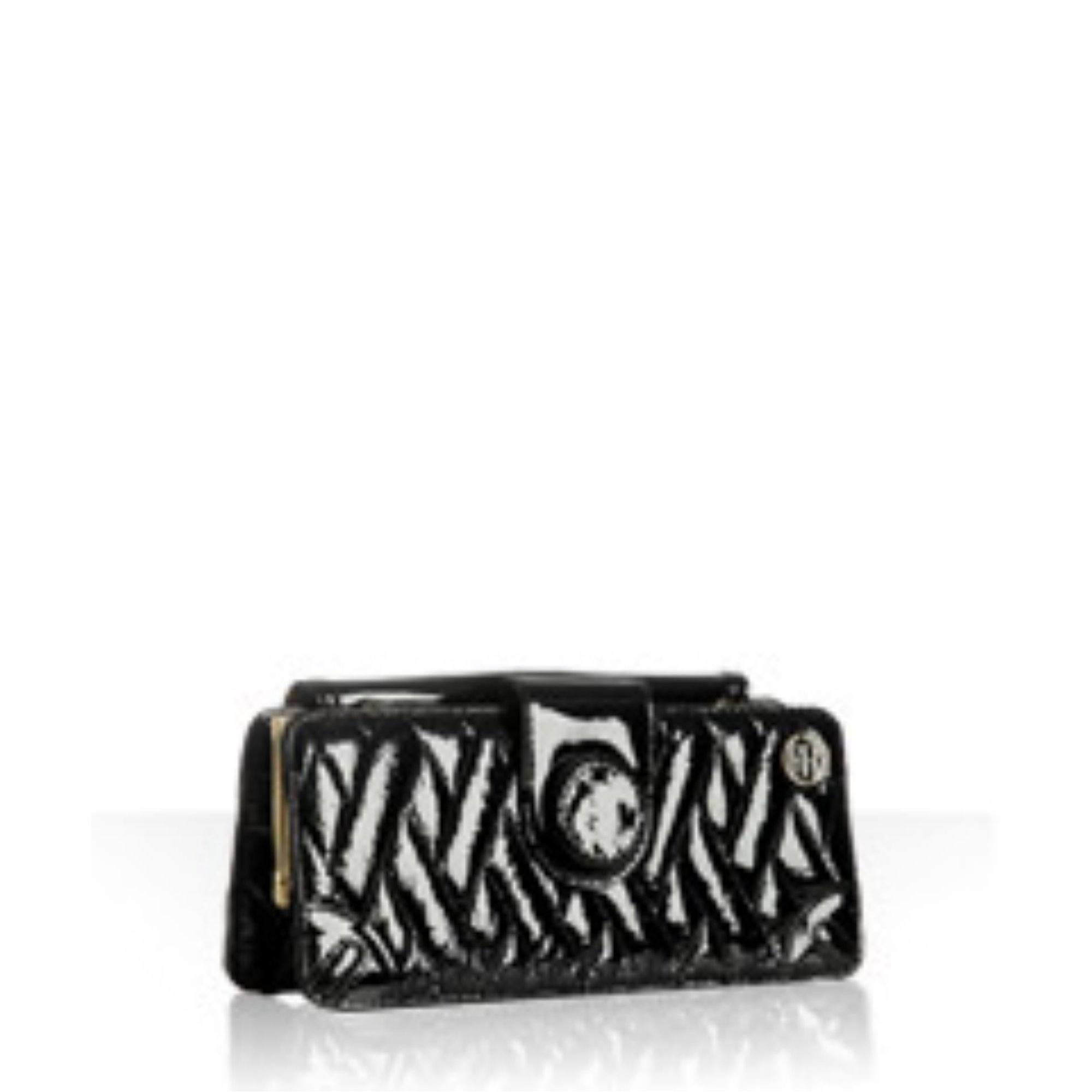 black quilted patent leather 'Gaby' clutch