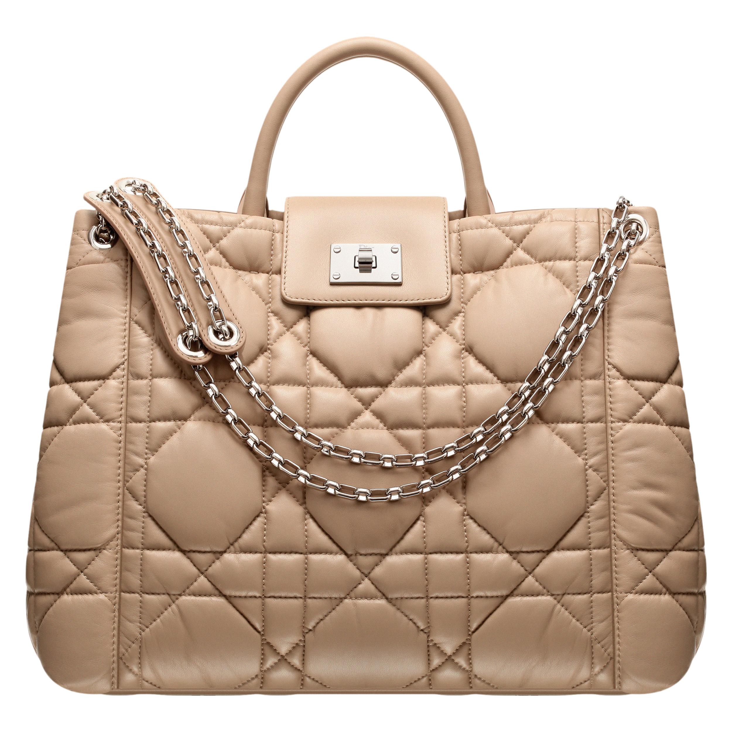DIOR MILLY LA FORêT米色皮革購物袋