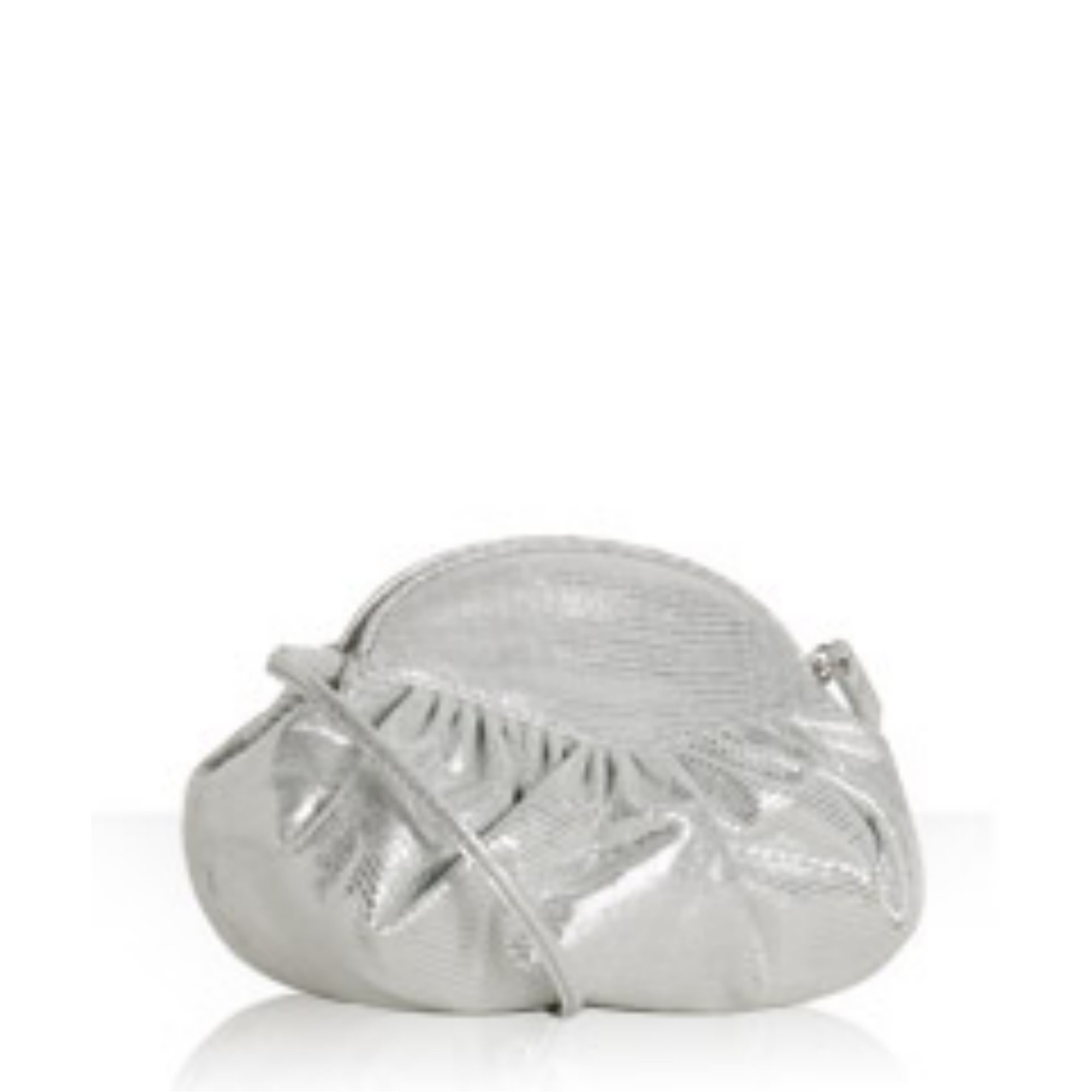 silver lizard suede 'Nite Crush' clutch