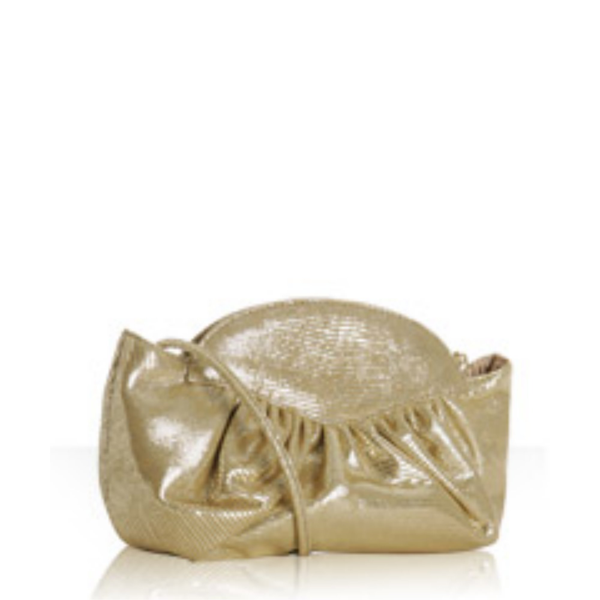 gold lizard suede 'Nite Crush' clutch
